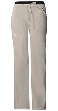 Cherokee Workwear Low Rise Drawstring Cargo Pant Khaki (24001-KAKW)