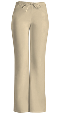 Cherokee Workwear Low Rise Moderate Flare Drawstring Pant Khaki (24002P-KAKW)