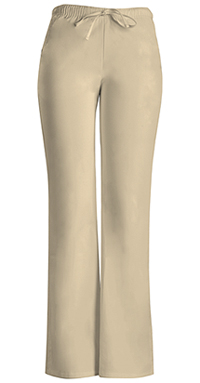 Cherokee Workwear Low Rise Moderate Flare Drawstring Pant Khaki (24002-KAKW)