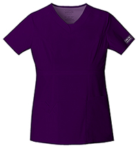 Cherokee Workwear V-Neck Top Eggplant (24703-EGGW)