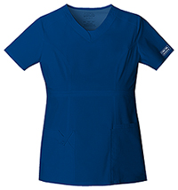 Cherokee Workwear V-Neck Top Galaxy Blue (24703-GABW)