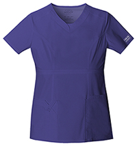 Cherokee Workwear V-Neck Top Grape (24703-GRPW)