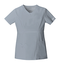 Cherokee Workwear V-Neck Top Grey (24703-GRYW)