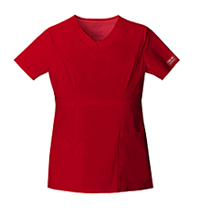 Cherokee Workwear V-Neck Top Red (24703-REDW)