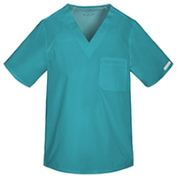 Cherokee Men's V-Neck Top Teal Blue (2611-TELB)