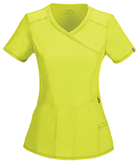 Cherokee Mock Wrap Top Citrus (2625A-CRPS)