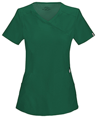 Cherokee Mock Wrap Top Hunter Green (2625A-HNPS)