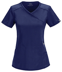 Cherokee Mock Wrap Top Navy (2625A-NYPS)