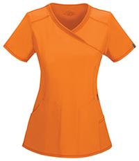 Cherokee Mock Wrap Top Orangeade (2625A-OAPS)