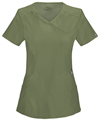Cherokee Mock Wrap Top Olive (2625A-OLPS)