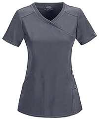 Cherokee Mock Wrap Top Pewter (2625A-PWPS)