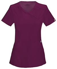 Cherokee Mock Wrap Top Wine (2625A-WNPS)