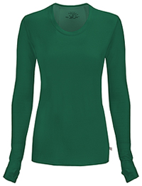 Cherokee Long Sleeve Underscrub Knit Tee Hunter Green (2626A-HNPS)