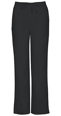 Cherokee Workwear Unisex Natural Rise Drawstring Pant Black (34100A-BLKW)