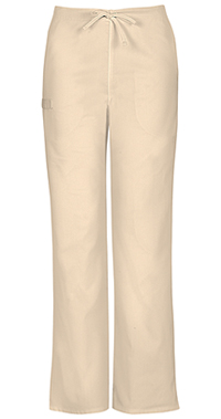 Cherokee Workwear Unisex Natural-rise Drawstring Pant Khaki (34100A-KAKW)