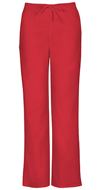 Cherokee Workwear Unisex Natural-rise Drawstring Pant Red (34100A-REDW)