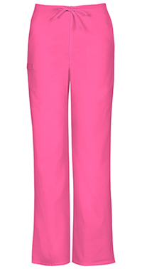 Cherokee Workwear Unisex Natural-rise Drawstring Pant Shocking Pink (34100A-SHPW)