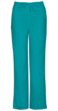 Cherokee Workwear Unisex Natural Rise Drawstring Pant Teal Blue (34100A-TLBW)