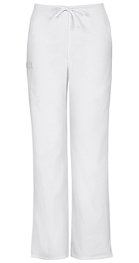 Cherokee Workwear Unisex Natural Rise Drawstring Pant White (34100A-WHTW)