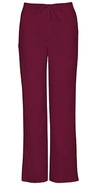 Cherokee Workwear Unisex Natural Rise Drawstring Pant Wine (34100A-WINW)