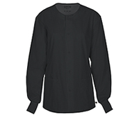 Cherokee Workwear Unisex Snap Front Warm-up Jacket Black (34350A-BLKW)