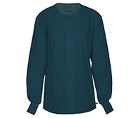 Cherokee Workwear Unisex Snap Front Warm-up Jacket Caribbean Blue (34350A-CARW)