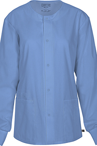 Cherokee Workwear Unisex Snap Front Warm-up Jacket Ciel (34350A-CIEW)