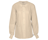 Cherokee Workwear Unisex Snap Front Warm-up Jacket Khaki (34350A-KAKW)