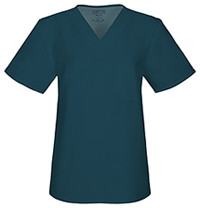 Cherokee Workwear Unisex V-Neck Top Caribbean Blue (34777A-CARW)