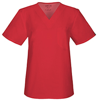 Cherokee Workwear Unisex V-Neck Top Red (34777A-REDW)