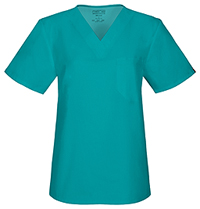 Cherokee Workwear Unisex V-Neck Top Teal Blue (34777A-TLBW)