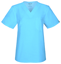 Cherokee Workwear Unisex V-Neck Top Turquoise (34777A-TRQW)