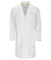 Code Happy 38 Unisex Lab Coat White (36400AB-WHCH)