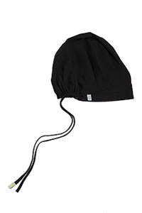 Code Happy Unisex Bouffant Scrub Hat Black (36500A-BXCH)