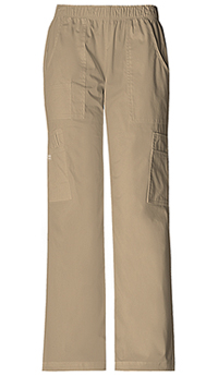 Cherokee Workwear Mid Rise Pull-On Pant Cargo Pant Dark Khaki (4005-DKAW)