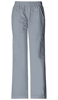 Cherokee Workwear Mid Rise Pull-On Cargo Pant Grey (4005-GRYW)