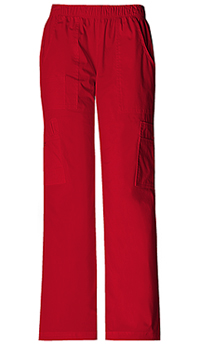Cherokee Workwear Mid Rise Pull-On Pant Cargo Pant Red (4005-REDW)