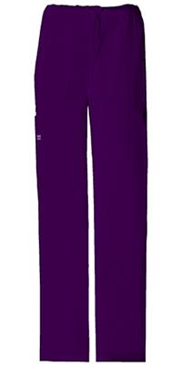 Cherokee Workwear Unisex Drawstring Cargo Pant Eggplant (4043-EGGW)