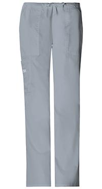 Cherokee Workwear Mid Rise Drawstring Cargo Pant Grey (4044-GRYW)