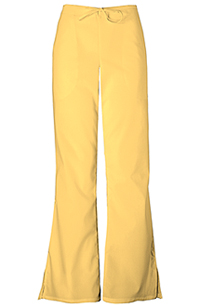 Cherokee Workwear Natural Rise Flare Leg Drawstring Pant Dandelion (4101P-DANW)