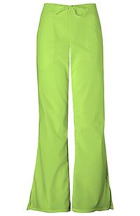Cherokee Workwear Natural Rise Flare Leg Drawstring Pant Lime Green (4101P-LMGW)