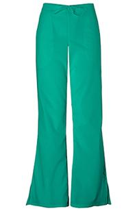 Cherokee Workwear Natural Rise Flare Leg Drawstring Pant Surgical Green (4101P-SGRW)