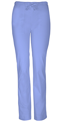 Cherokee Workwear Mid Rise Slim Drawstring Pant Ciel (4203P-CIEW)