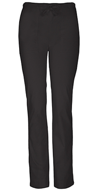 Cherokee Workwear Mid Rise Slim Drawstring Pant Black (4203-BLKW)