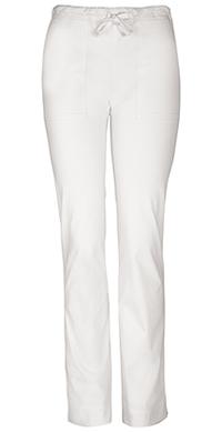 Cherokee Workwear Mid Rise Slim Drawstring Pant White (4203-WHTW)