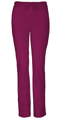 Cherokee Workwear Mid Rise Slim Drawstring Pant Wine (4203-WINW)