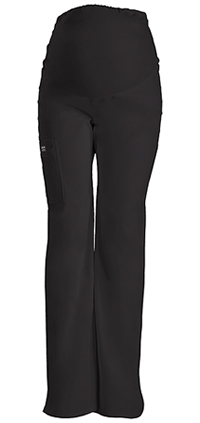 Cherokee Workwear Maternity Knit Waist Pull-On Pant Black (4208-BLKW)