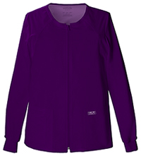 Cherokee Workwear Zip Front Warm-Up Jacket Eggplant (4315-EGGW)
