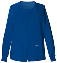 Cherokee Workwear Zip Front Warm-Up Jacket Galaxy Blue (4315-GABW)