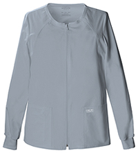 Cherokee Workwear Zip Front Warm-Up Jacket Grey (4315-GRYW)
